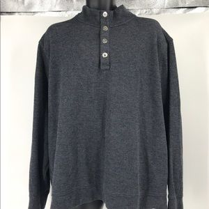 Tommy Bahama Gray 3XL Button Up Pull Over